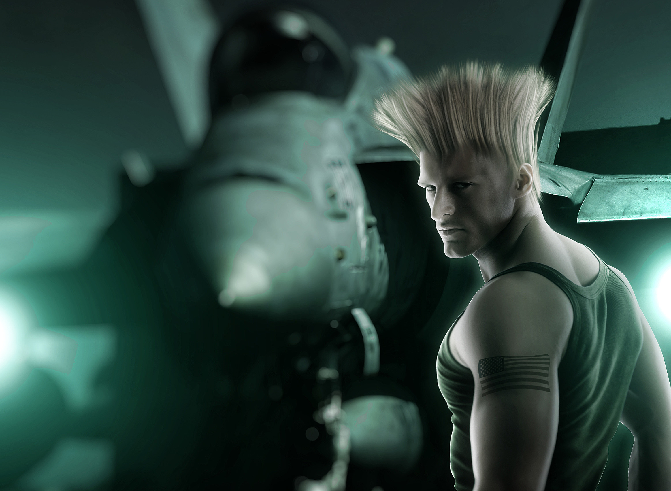 Hyper Real Super Street Fighter IV Art Featuring Guile src=