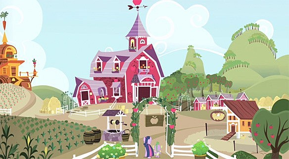 My Little Pony Concept Art Shows Off The Backgrounds Of Equestria