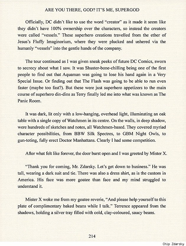 Chip Zdarsky's 'Watchmen 2′ Pitch Goes 'Full-On A**hole'