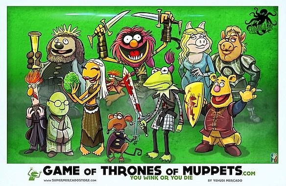 Game of Thrones' Mashup Art Brings Winter to Muppets, Ponies