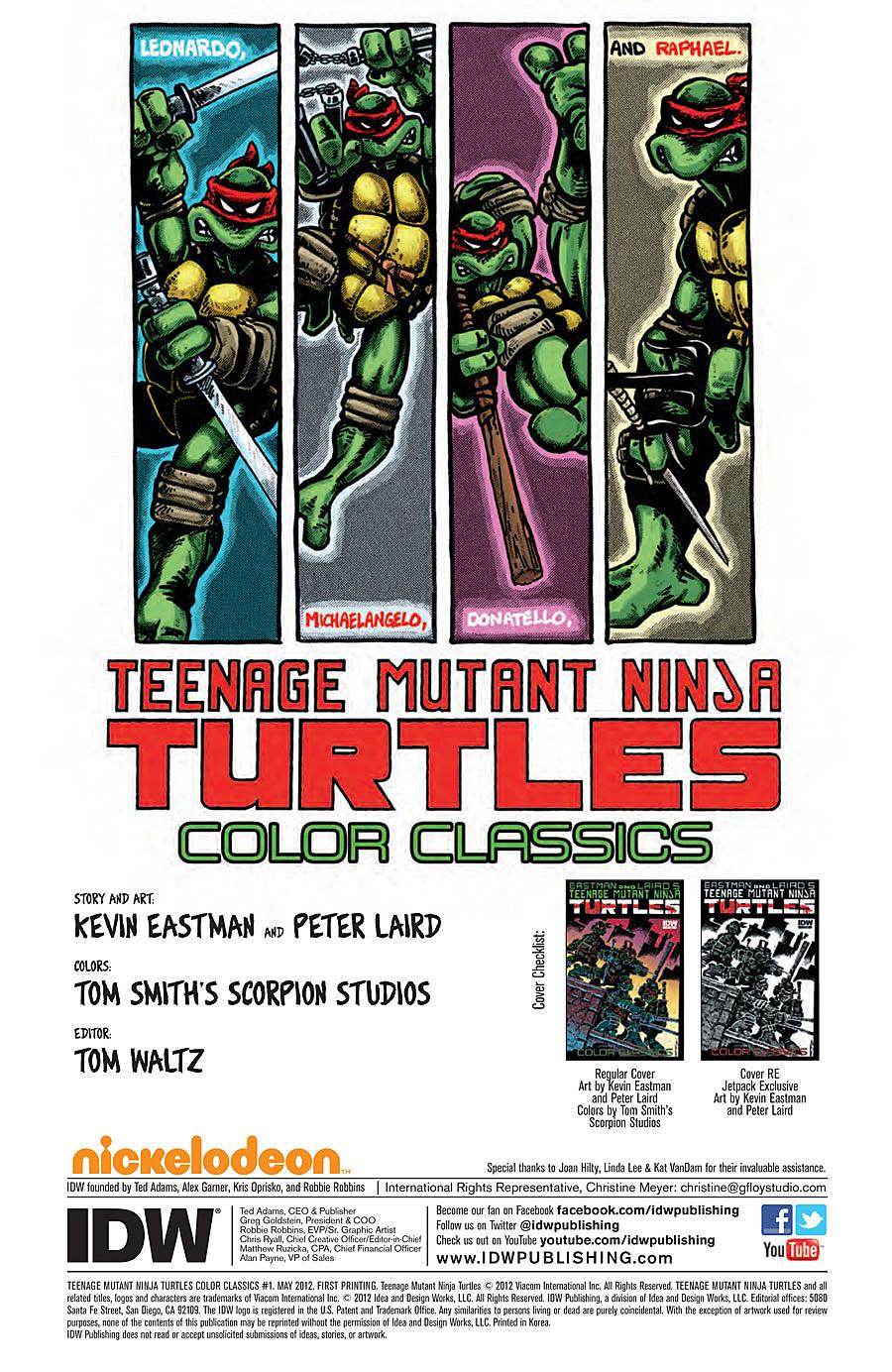 'Teenage Mutant Ninja Turtles Color Classics' #1 Comes Out ...