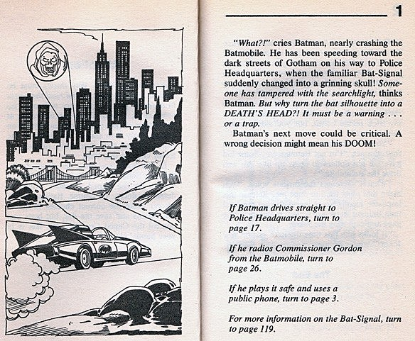 The Choose Your Own Adventure Book Where Tiny Batman Fights