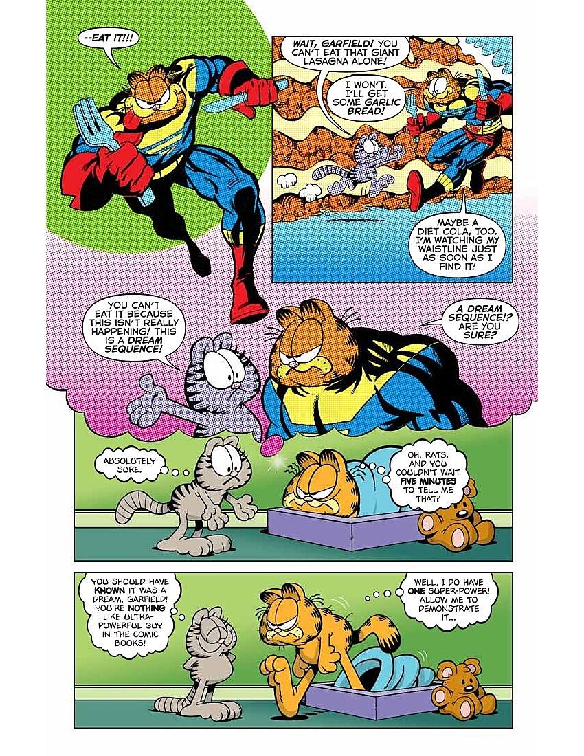 Garfield Comic Book Features Lasagna Superheroics Preview