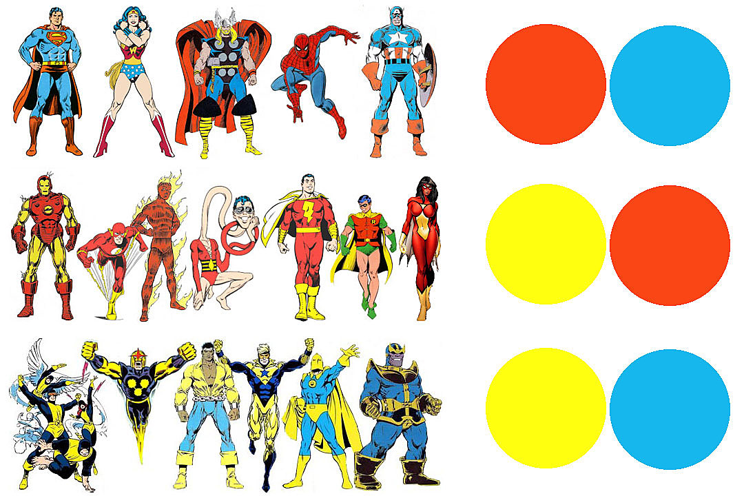 Superhero Color Theory, Part I: The Primary Heroes