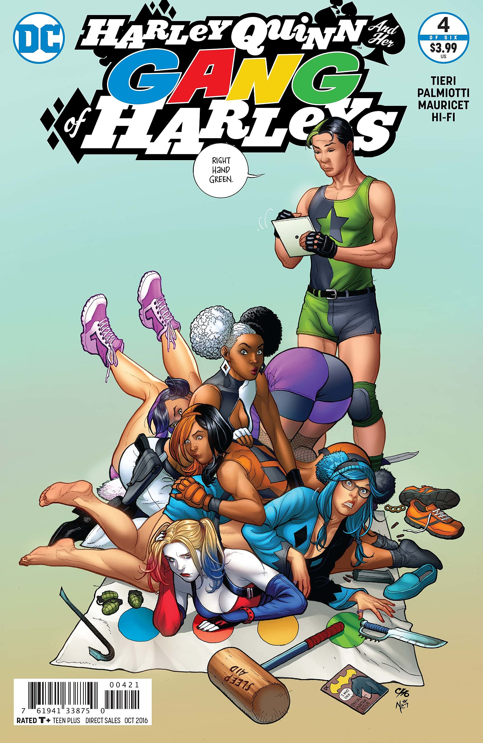 DC COMICS HARLEY QUINN AND HER GANG OF HARLEYS #4 2016 AMANDA CONNER COVER