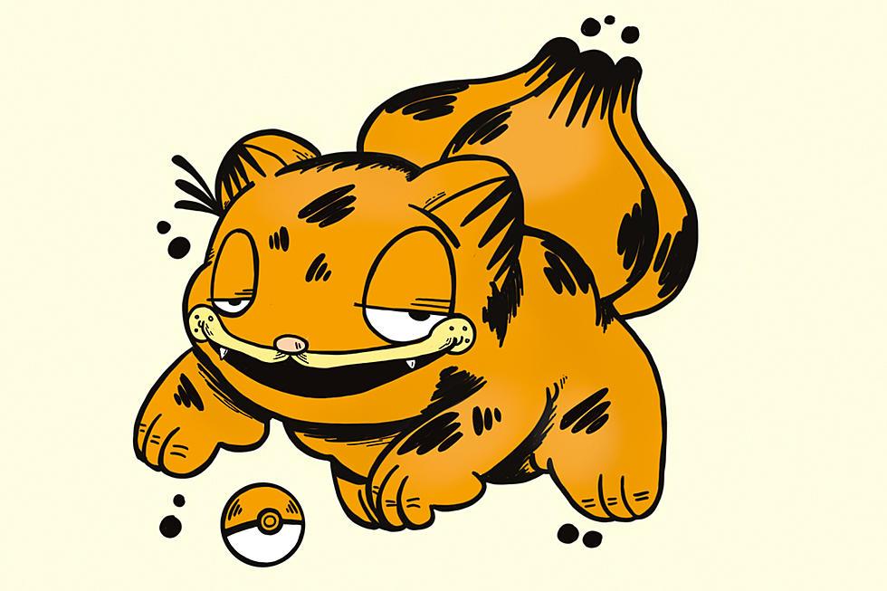 Cartoonist Shawn Bowers Is Drawing Garfield As Pokemon