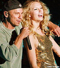 Taylor Swift and Kenny Chesney