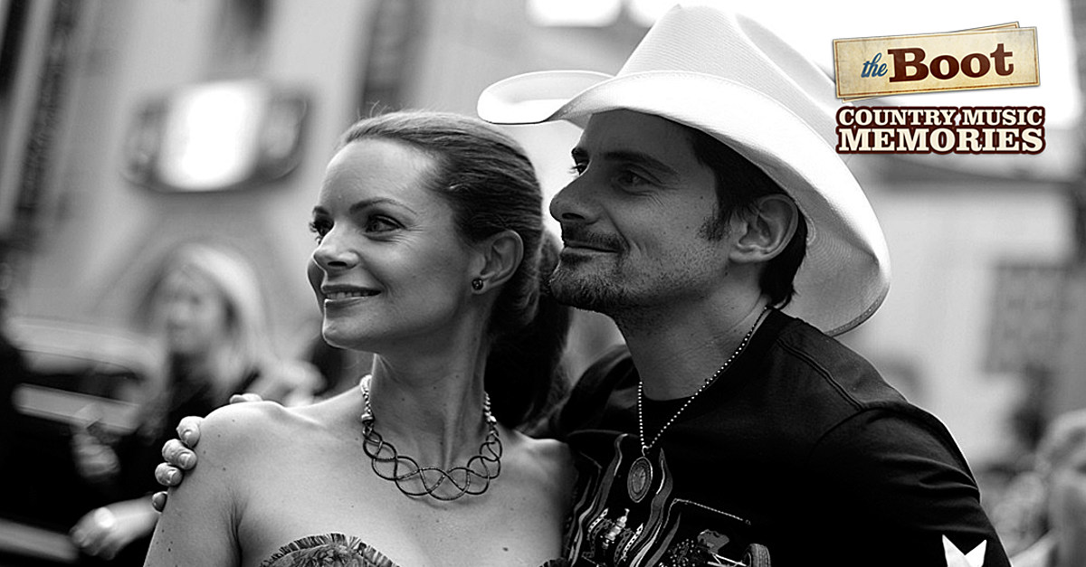 5a36fbcf2 Country Music Memories: Brad Paisley Marries Kimberly Williams