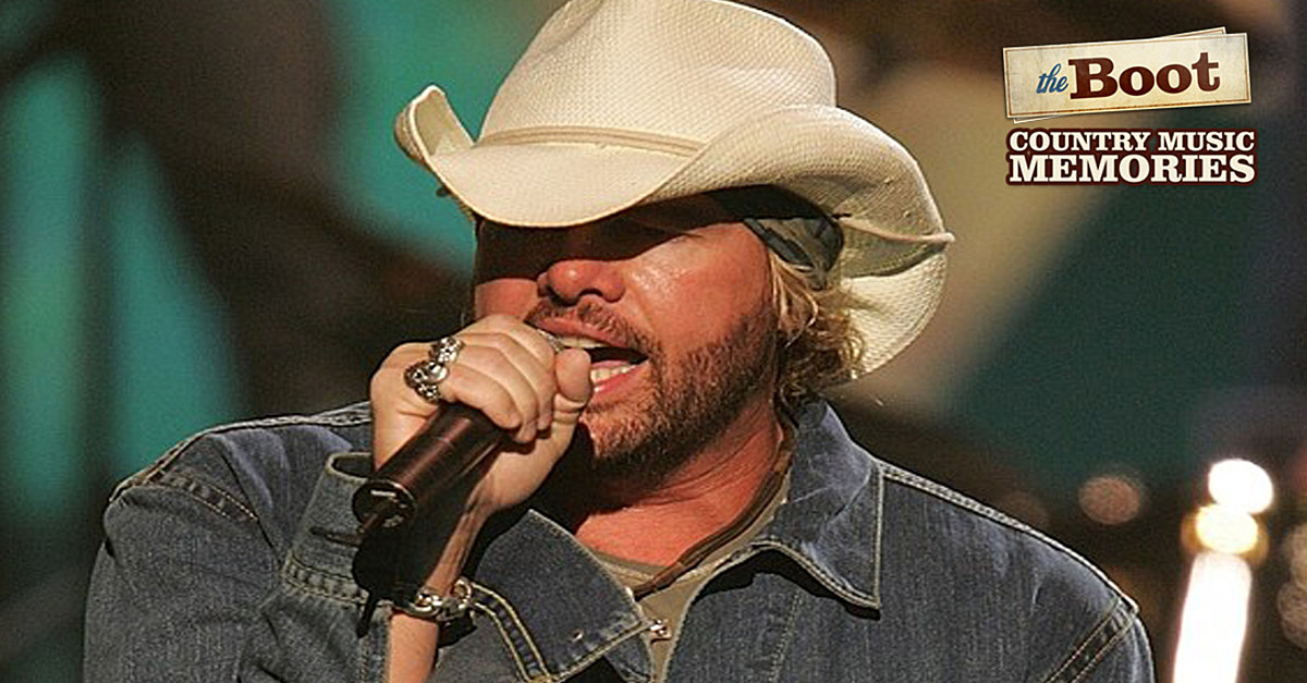 Country Music Memories: Toby Keith Hits No  1 With 'Whiskey