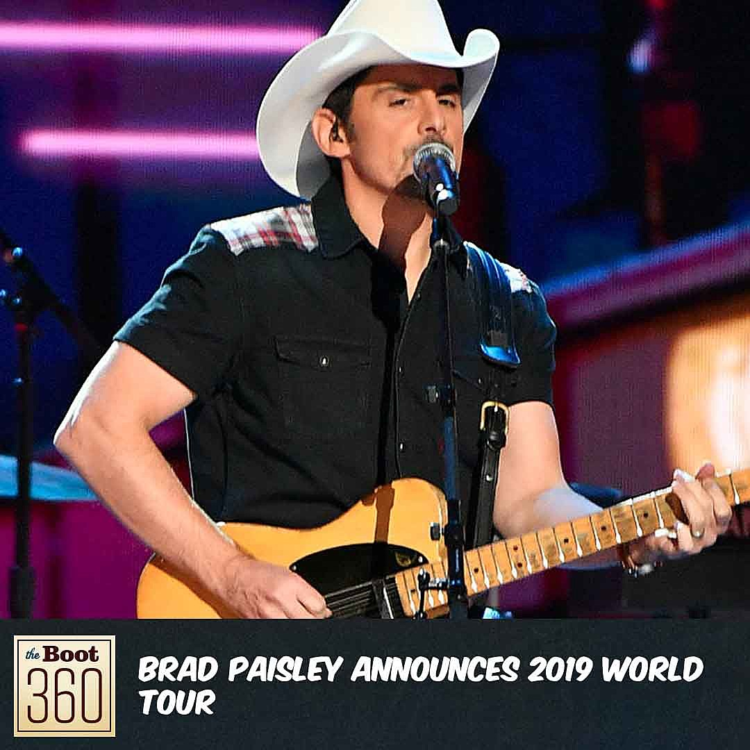 Brad Paisley Reveals 2019 World Tour Dates