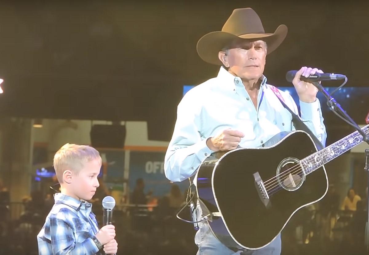 George Strait Grandson Harvey Sing Together At Houston Rodeo