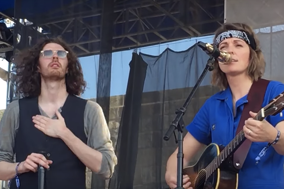 Newport Folk Festival: Brandi Carlile + Hozier Sing 'The Joke'