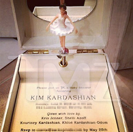 Kanye West And Kim Kardashian S Baby Shower Invite Is Top Notch