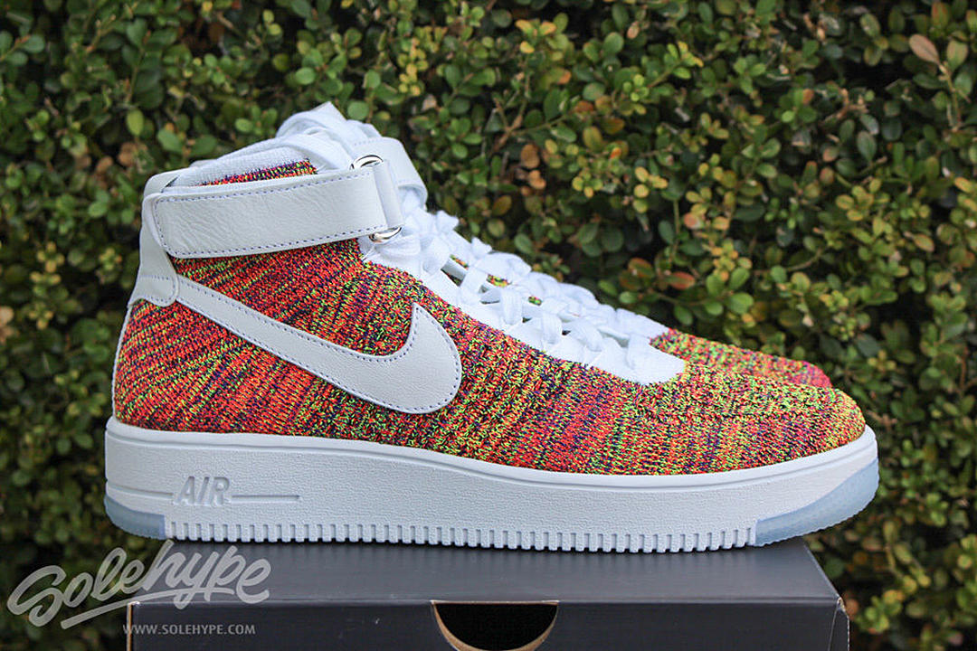 new styles e927b 72816 The Nike Air Force 1 Mid Ultra Flyknit Multi Color will be available at  select Nike retailers on February 4. Solehype