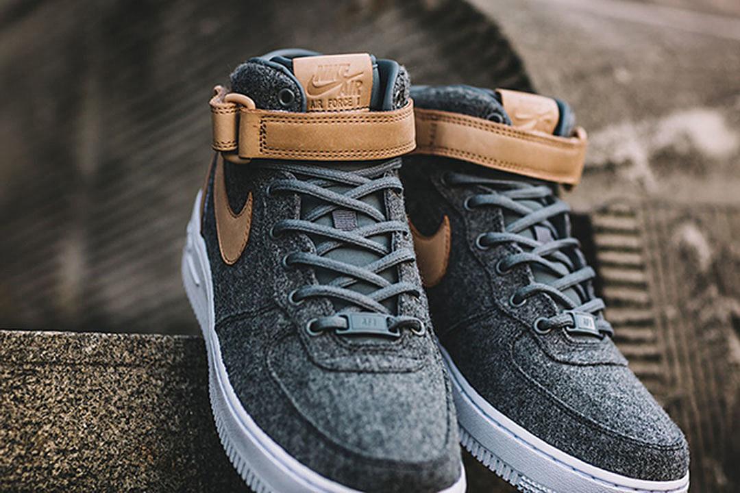Nike Air Force 1 Mid Leather \u0026 Wool