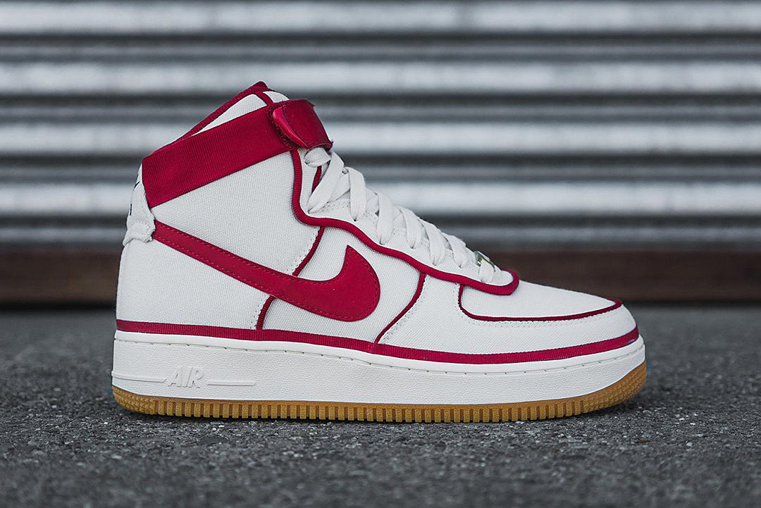 new products ce551 0fdd5 Nike Air Force 1 High 07 LV8 Red / White