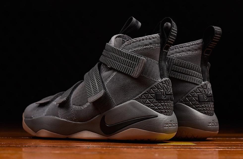 best sneakers 4c1b6 6844d Nike LeBron Soldier 11 Grey Gum
