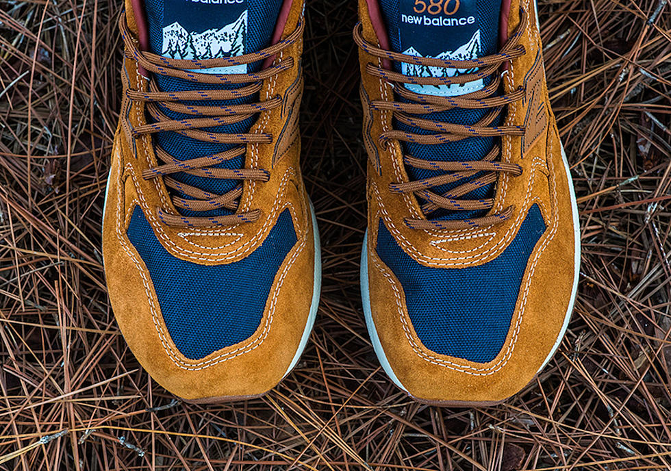 low priced 08876 2fc53 New Balance 580 Brown Suede
