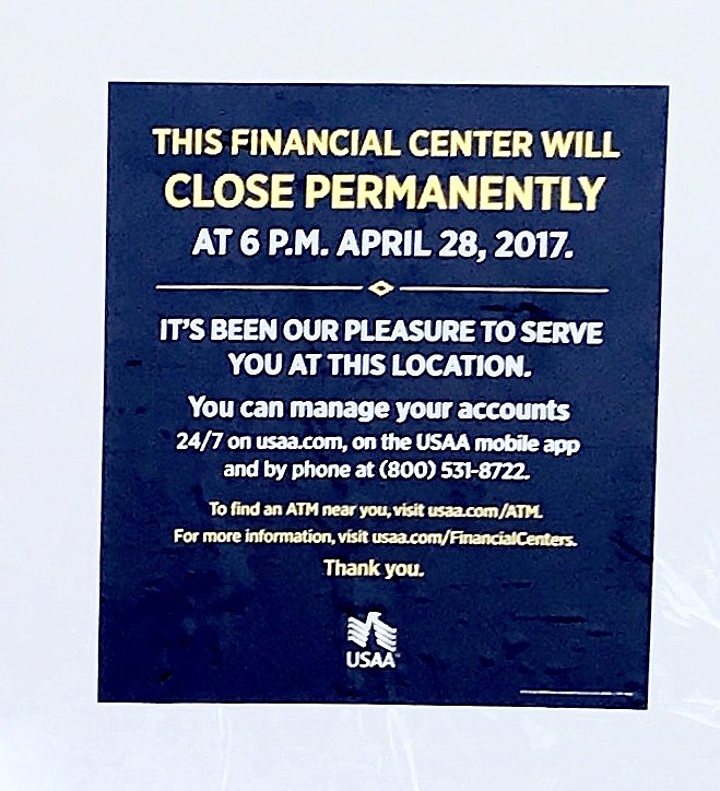 Usaa Financial Center Near Me >> Usaa Closes Its Branch At The Fountains At Farah Now What