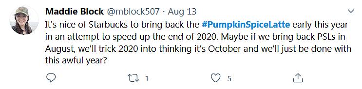 #PumpkinSpiceLatte Twitter 2