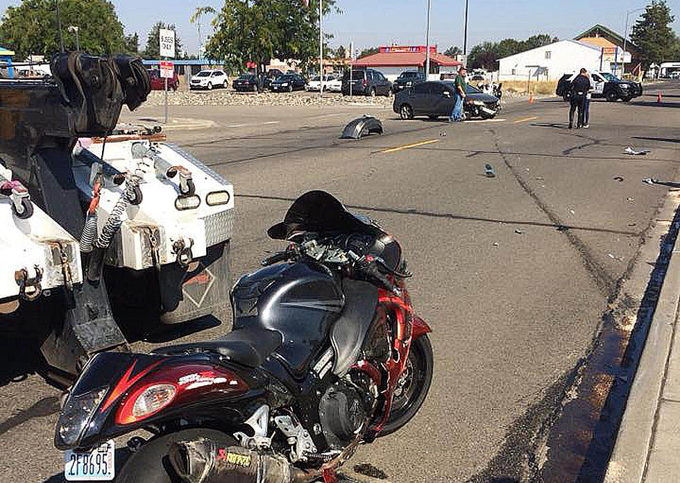 Motorcycle Accident Closes Huntington Street This Morning