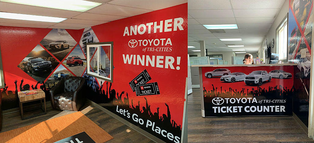 Toyota Of Tri Cities >> Toyota Of Tricities Is Celebrating Winners At New Ticket Counter