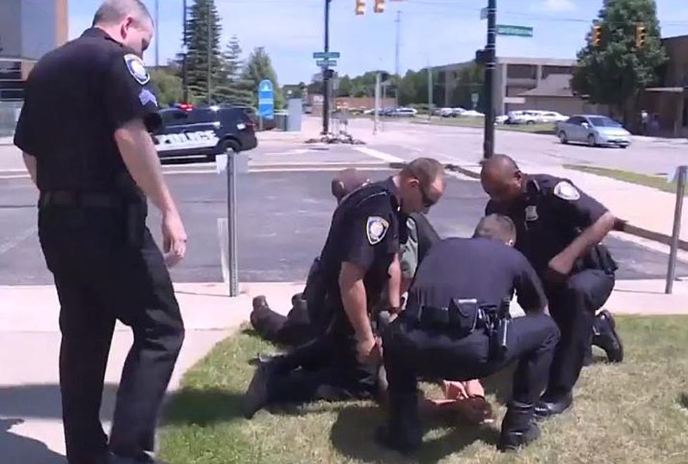 WATCH: Battle Creek Officer Nabs Suspect During TV Interview