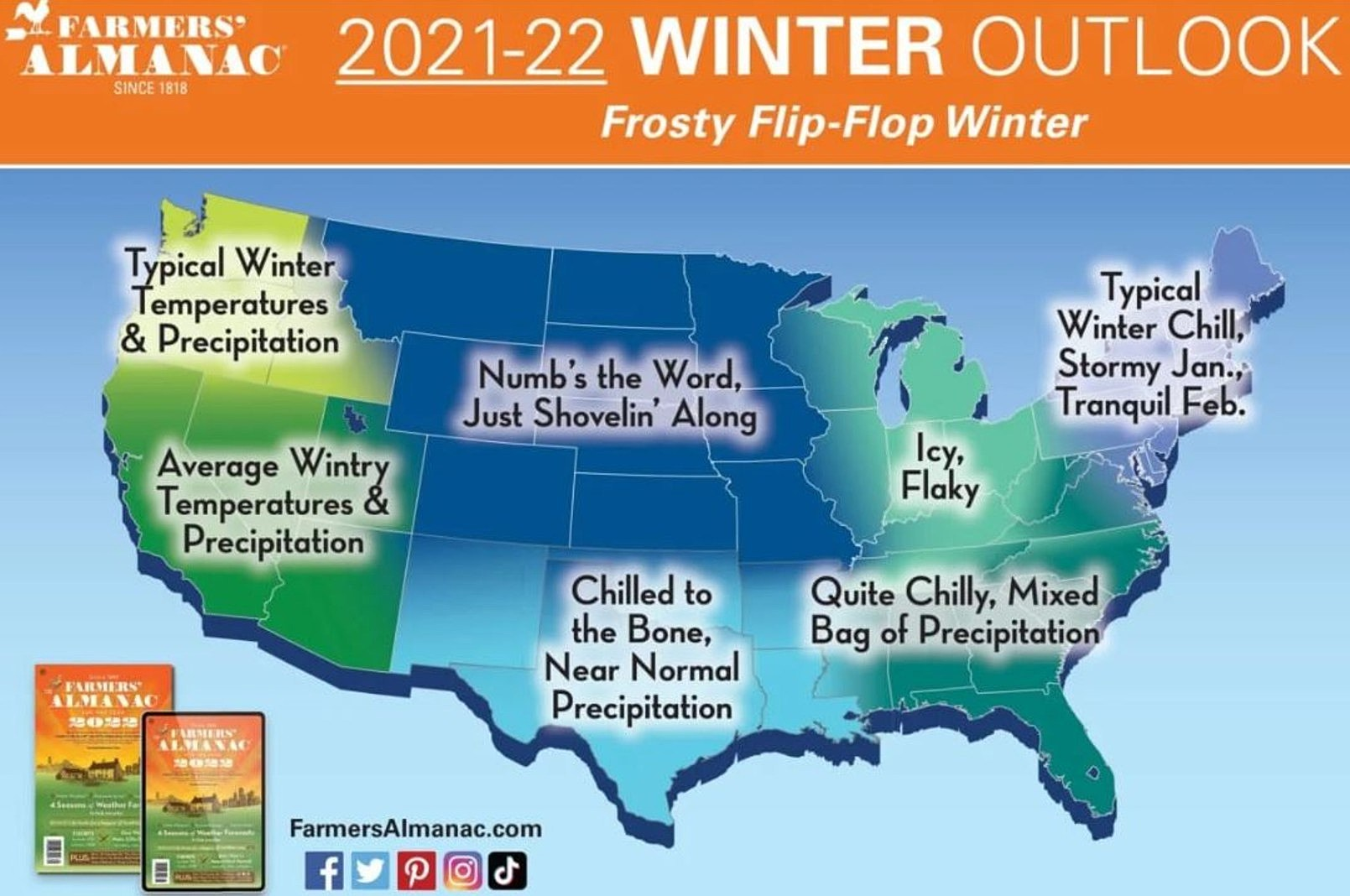 Farmers' Almanac Calling for Cold Winter With Average Snowfall