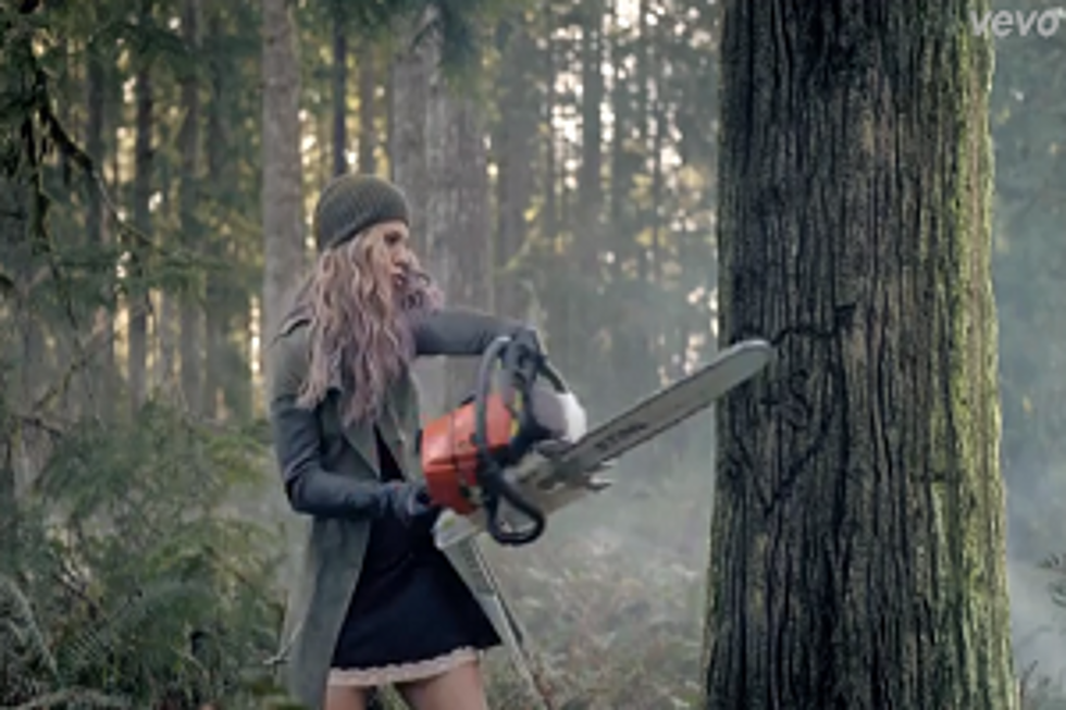 The Band Perry Literally Puts Chainsaws to Work in New