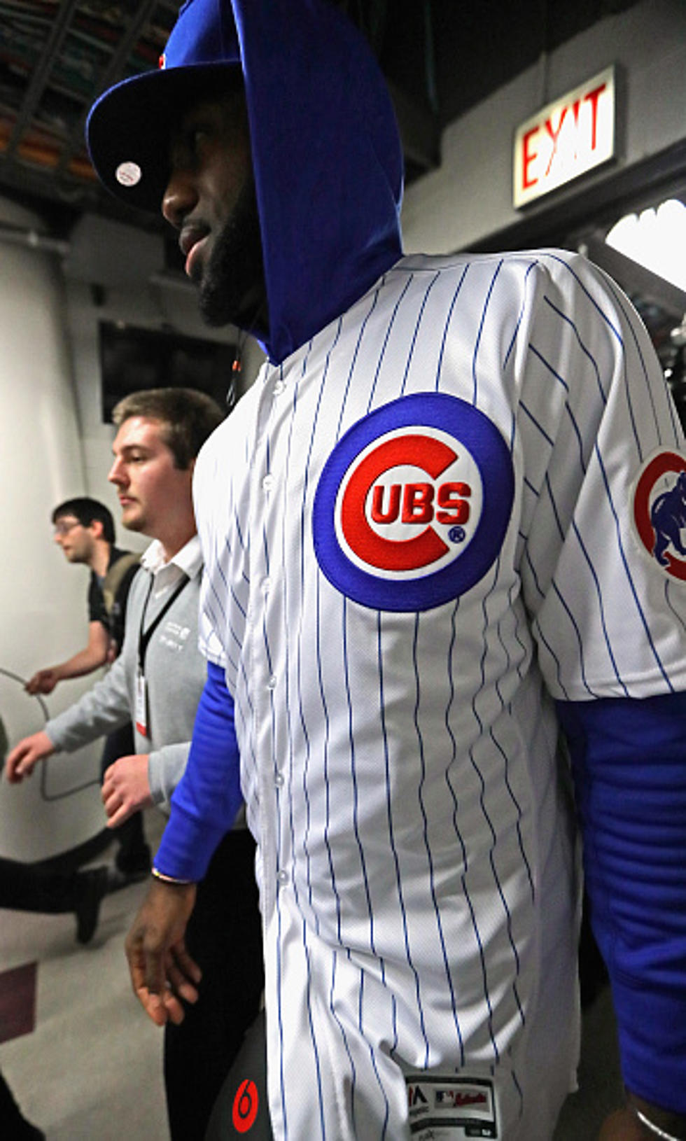 on sale ed16b ef375 LeBron James Settles Wager, Wears Cubs Gear (PHOTO)