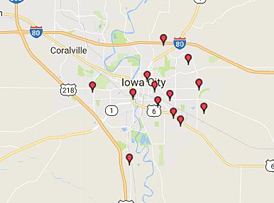 sex offender registry iowa city map