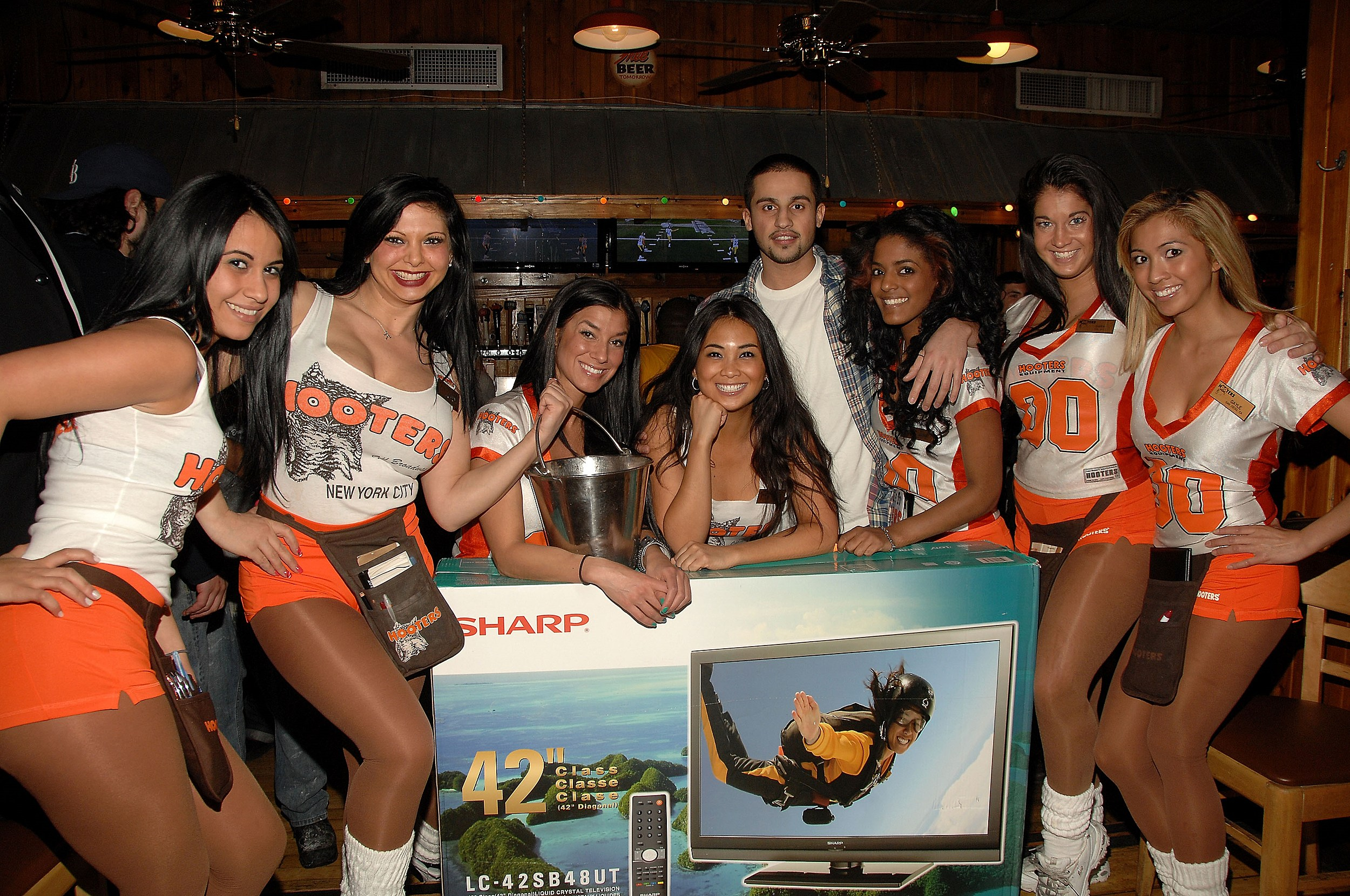 You Hot girls in hooters uniforms curious