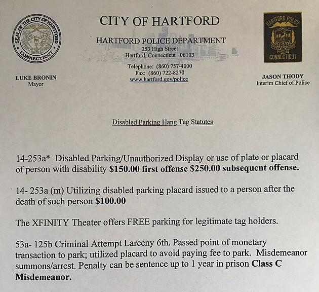 Police Seize Handicapped Parking Permits at CT's Xfinity Theatre