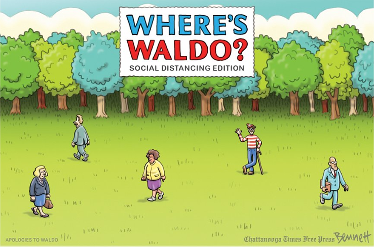 Image result for where's waldo social distancing
