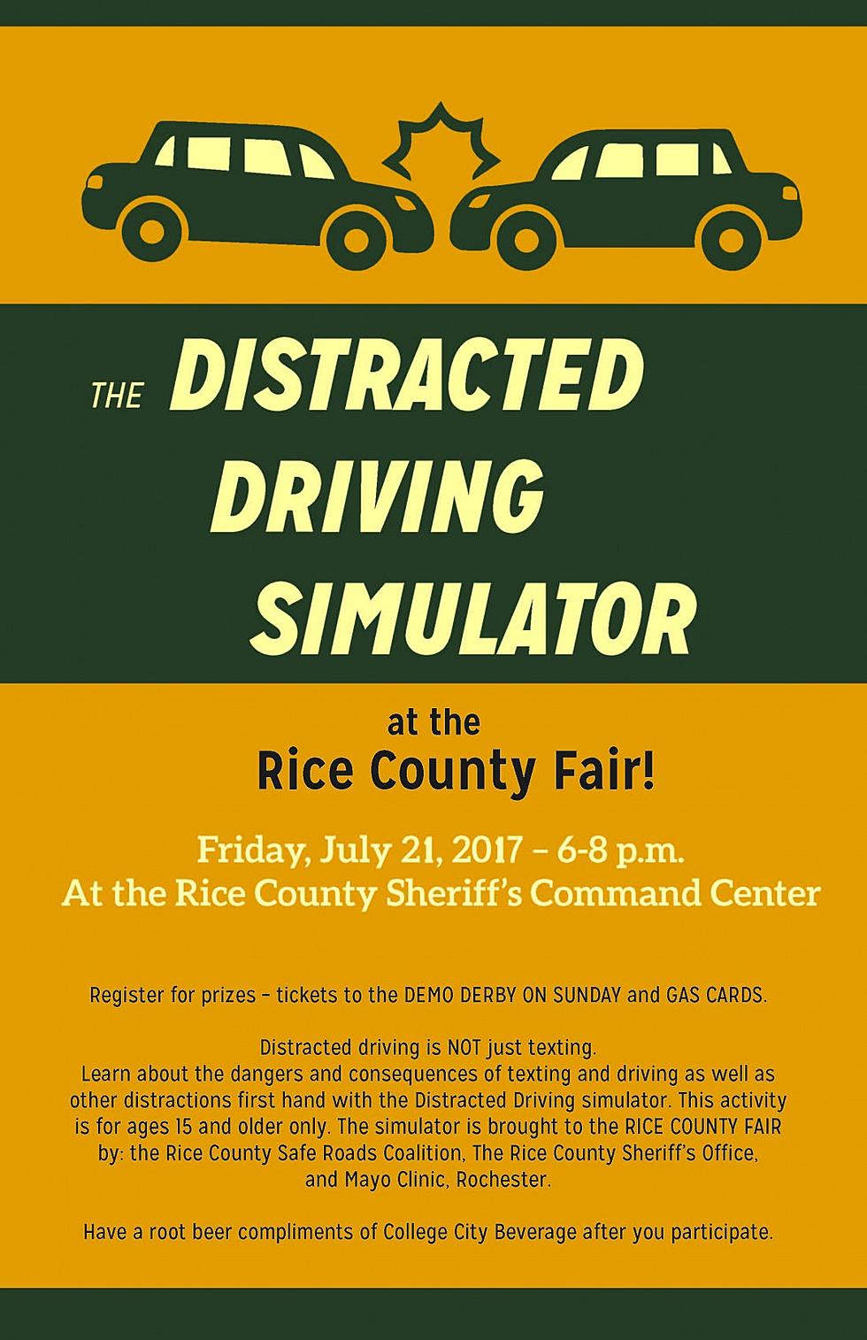 Distracted Driving Simulator to be at Rice County Fair