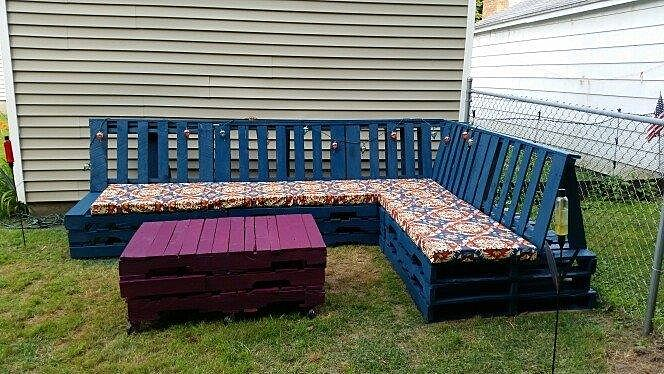 Merveilleux Outdoor Seating Made From Pallet Wood U2013 DIY On A Budget With Tess