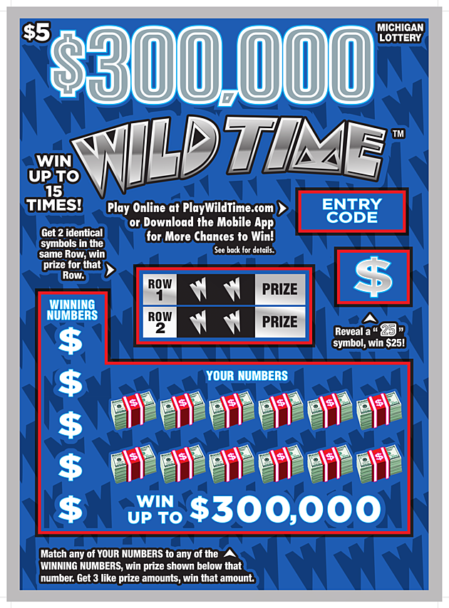 Win $300,000 With Wild Time from the Michigan Lottery