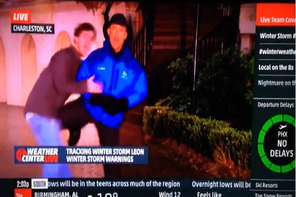 Weather Channel Jim Cantore Loses it Live [Video]