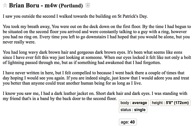 Let's Help This Portland Craigslist 'Missed Connections' Guy