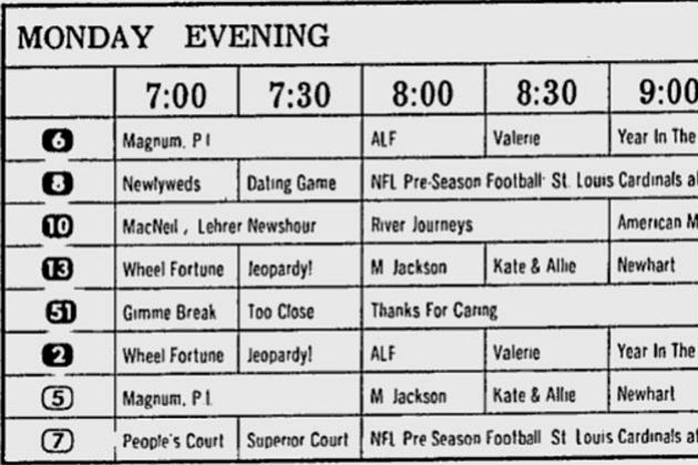 These Old Newspaper TV Listings Show What Was On TV When You