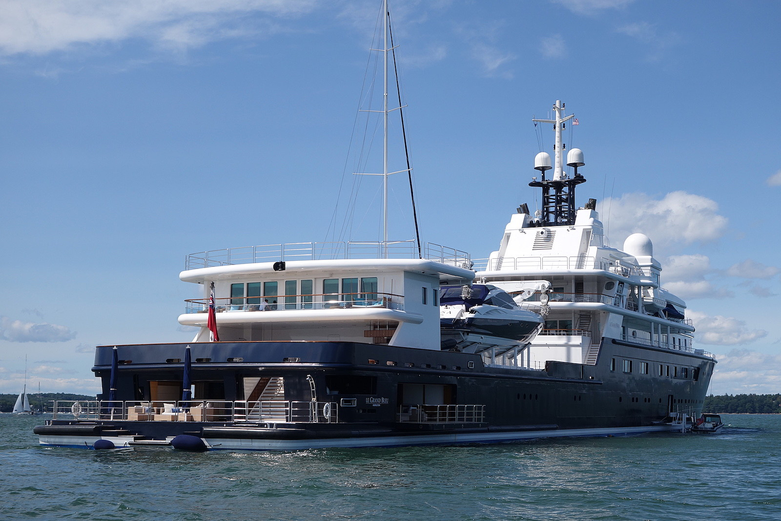 The Luxury Features Of This Massive Yacht Anchored In Portland