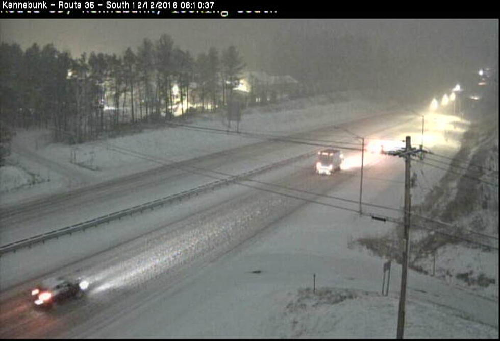 See the Storm on the Live Maine Turnpike Traffic Cameras