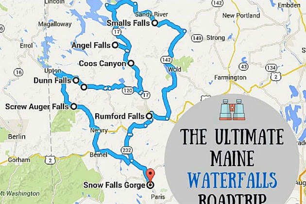 The Ultimate Maine Waterfall Tour, With a Map!