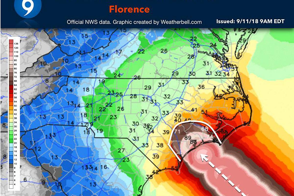 Unfortunate Hurricane Map Leaves People Cracking Dirty Jokes