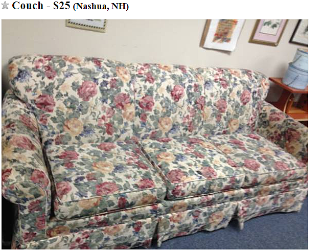 New Hampshire's Ugliest Furniture for Sale on Craigslist