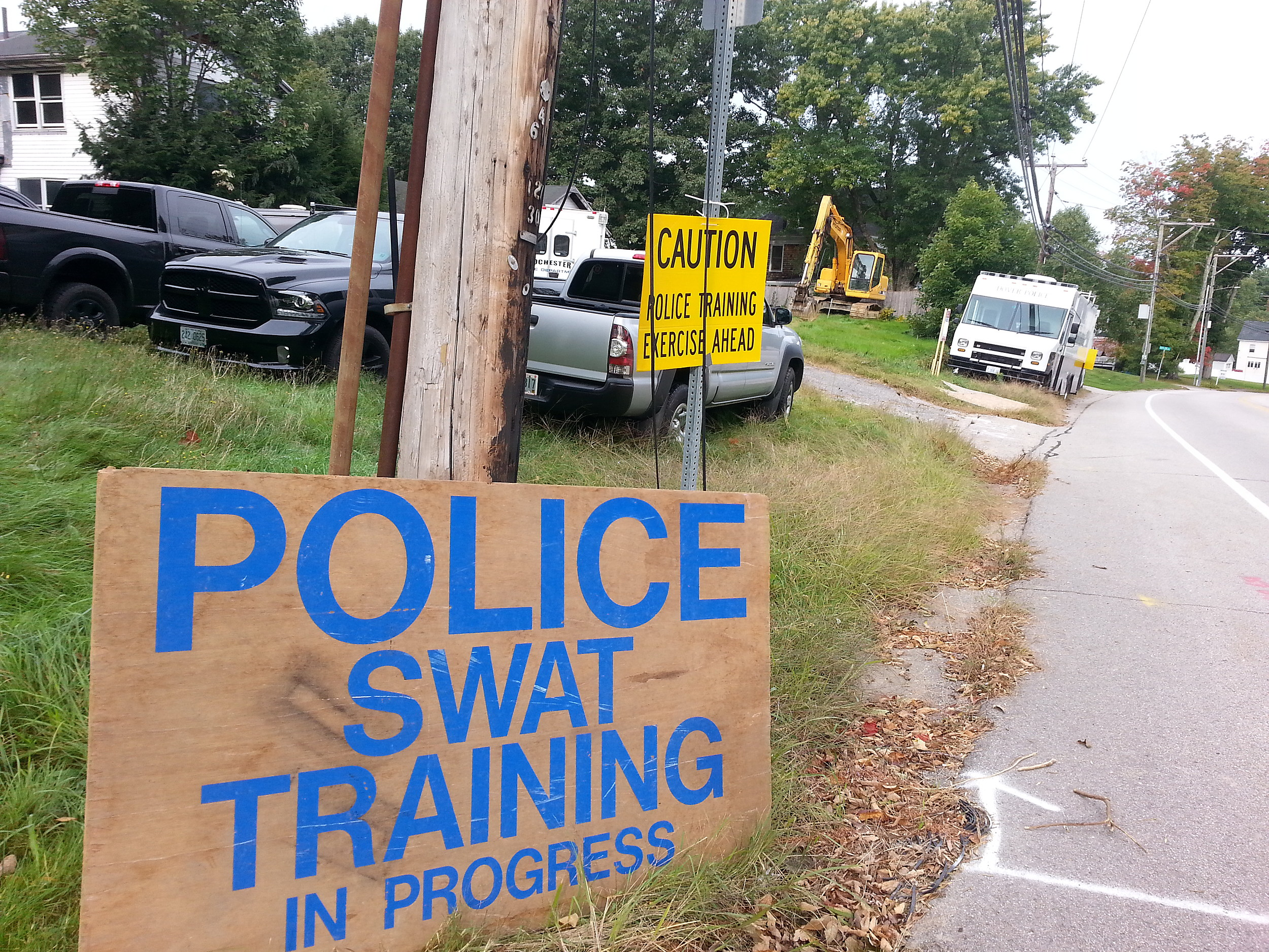 There's A SWAT Training Exercise In Dover Today