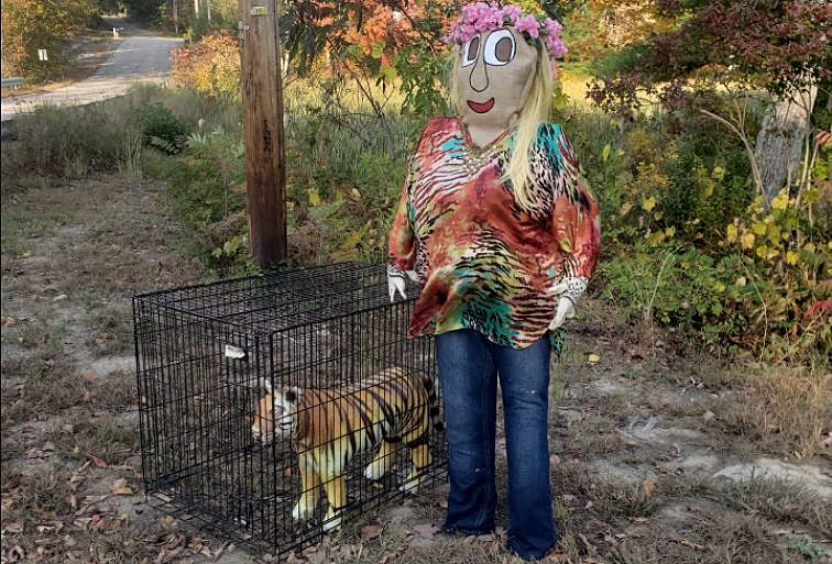 Carole Baskin Scarecrow in NH is the Greatest Thing Ever