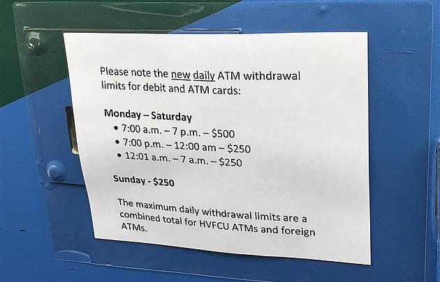 Hudson Valley Banks Suddenly Limiting Cash Withdrawals from ATM