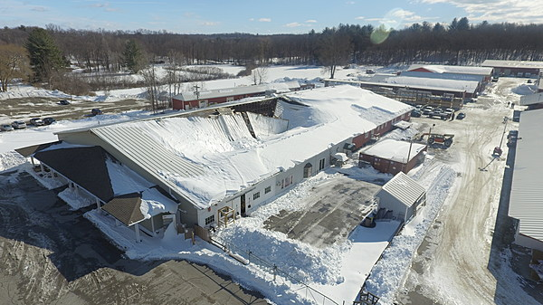 Drone Captures The Scope Of Rhinebeck Williams Lumber Roof
