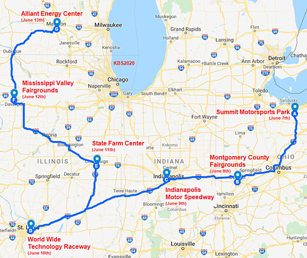 Power Tour 2020.Fairgrounds Hosts 2020 Power Tour Stop June 12th